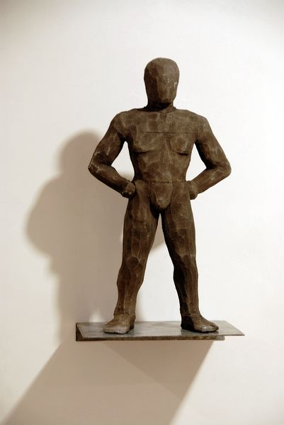 "CA 051  ""Homme Fier"", 2008  Aluminium  cm 42 x 23 x 10"