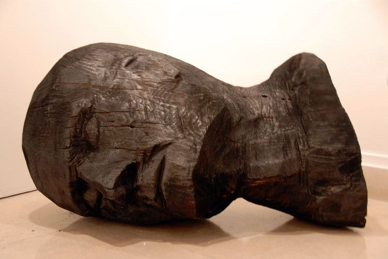 "CA 082:  ""A001-F10 (Anonyme)"", 2010  burned pine  cm 50 x 60 x 90"