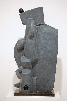 OMNIPRESENCE, 2003  Bronze, grey patina and black colour  cm 68 x 39 x 20  Ed 2/6 - VARI 067