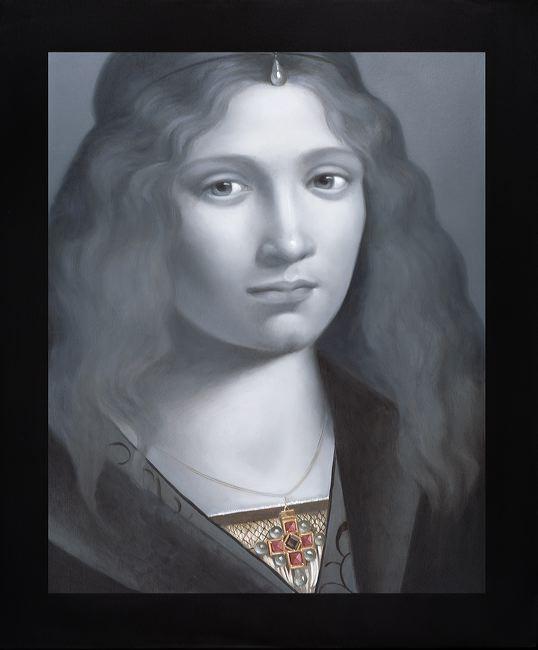 WAT 024 Mary A Waters   Italian Boy with Neck Jewel, 2010   oil on linen cm 60x50 (1)