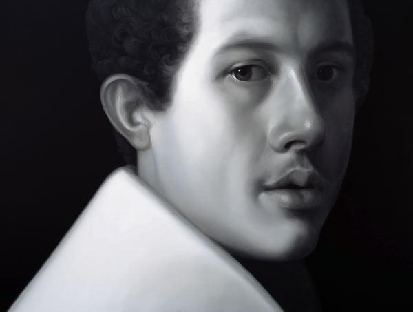 WAT 054 Mary A Waters   Portrait (Italian Man)  2012 oil on linen cm 150x200