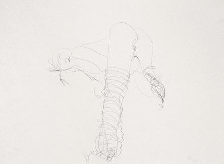 Untitled 012, 2003  pencil and charcoal on paper, 50 x 70 cm