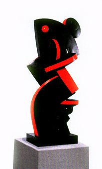 "Sophia VARI  ""Le Roi"", 2000  Bronze Polychrome  Cm 310 x 98 x 142  Edition de 3"