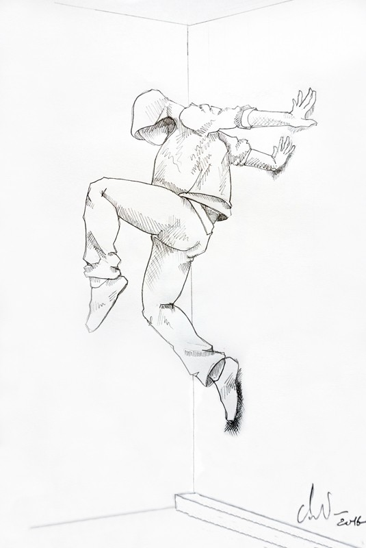 Cyrille AndréDrawing Wall runner 1, 2016 Pencil on paper cm 42,5 x 28,5 CA 118