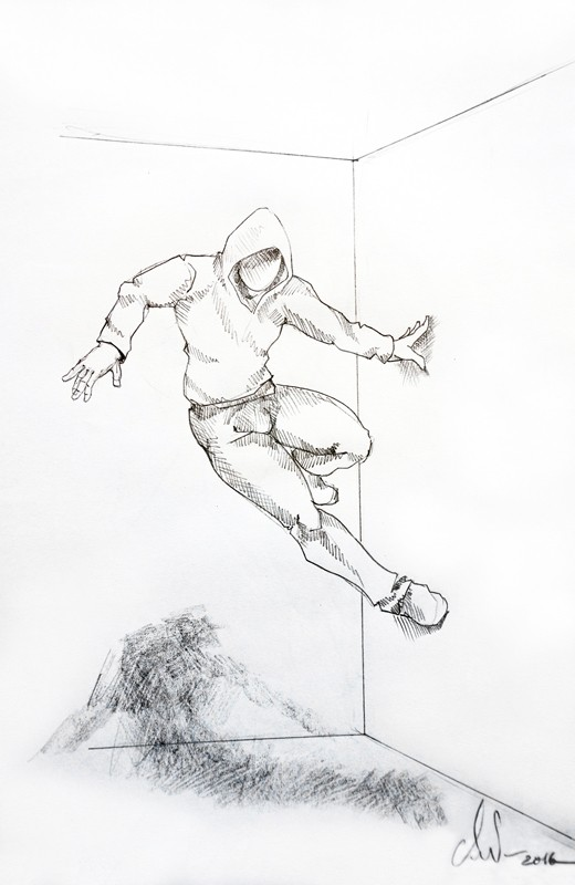 Cyrille AndréDrawing Wall runner 2, 2016 Pencil on paper cm 42,5 x 28,5 CA 119