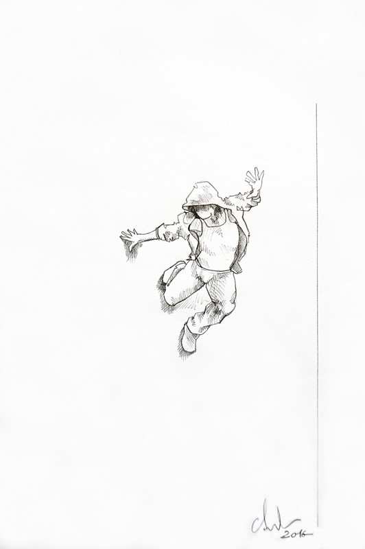 Cyrille AndréDrawing Wall runner 3, 2016 Pencil on paper cm 42,5 x 28,5 CA 120