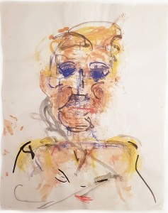 Claudia PiscitelliAlessandra, 2016charcoal, pastels and ink on papercm 60 x 47(CPI 018)