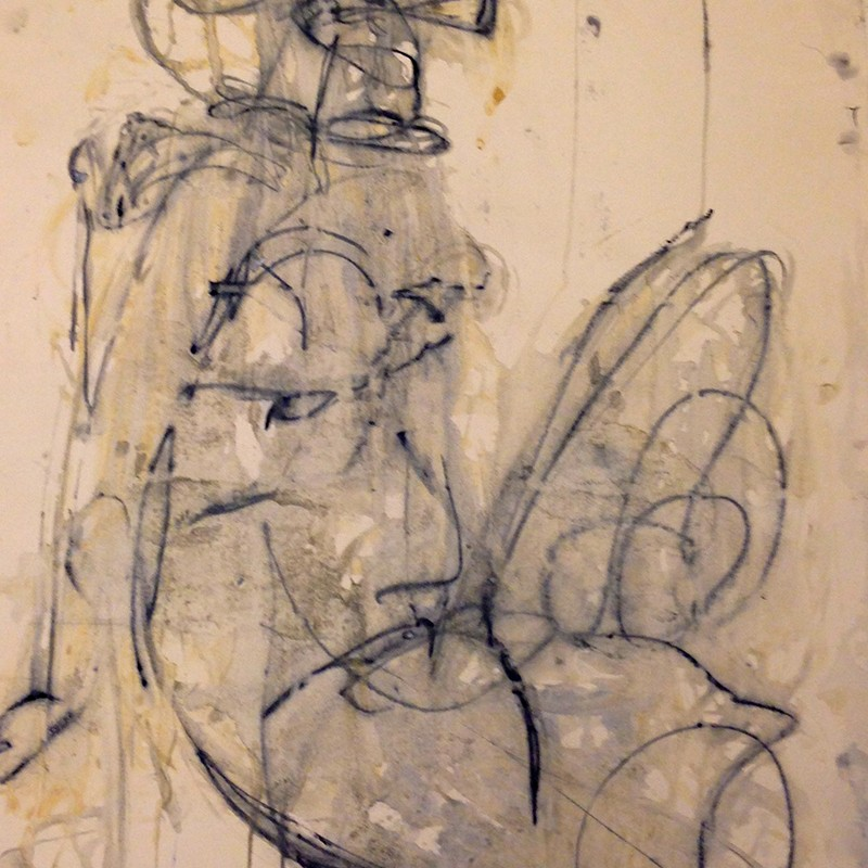 Claudia PiscitelliUntitled, 2015cm 67 x 53charcoal,pastels, ink on paper(CPI 008)