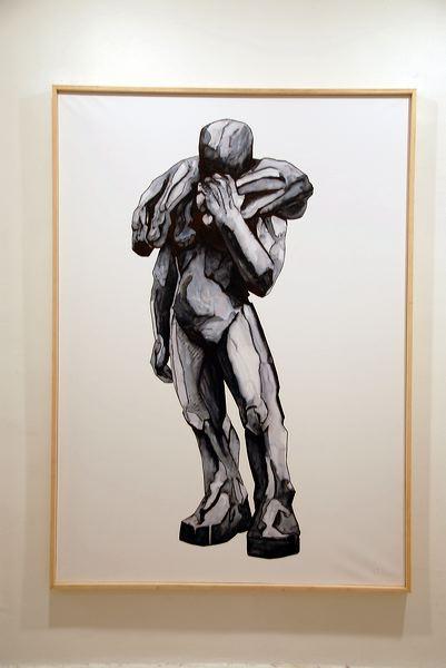 "CA 080:  ""Grand Passeur"", 2010  ink on paper  cm 173 x 125 x 5.5"
