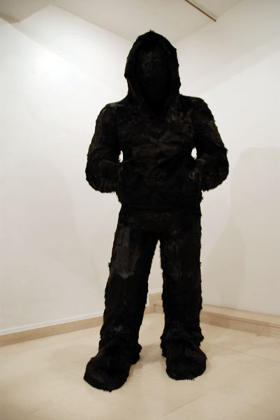 """Title: """"9.3"""", 2010  Polyester resin and kidskin  cm 247 x 120 x 80  (CA 081)"""