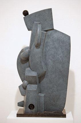 OMNIPRESENCE, 2003  Bronze, grey patina and black colour  cm 68 x 39 x 20  Ed 2/6 - VARI 067
