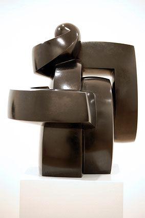 COMMENCEMENT, 2006  Bronze, black patina  cm 32 x 27 x 37.5  Ed: 1/6 - VARI 077