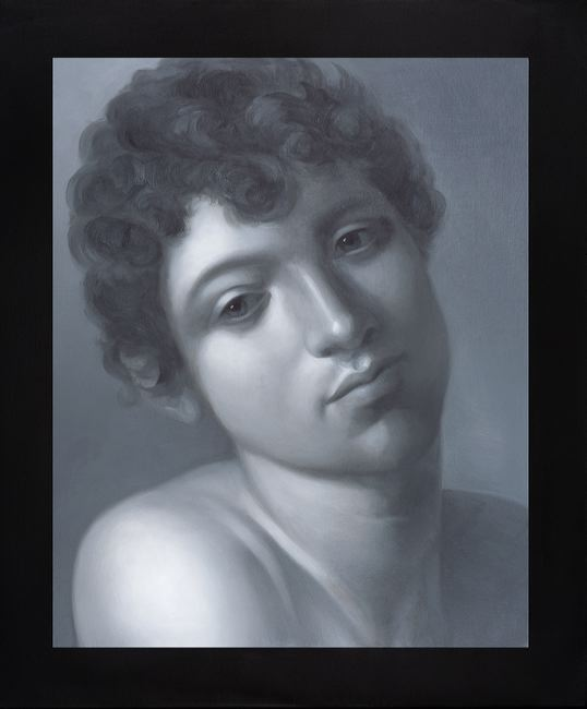 WAT 025 Mary A Waters  Boy with Curley Hair, 2010  oil on linen cm 60x50