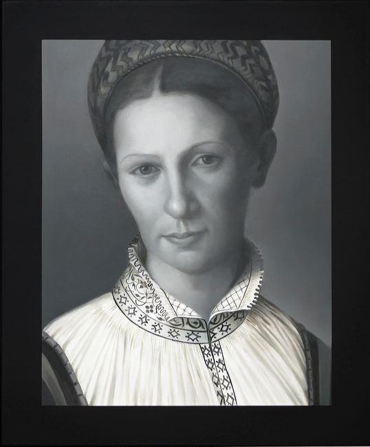 WAT 030 Mary A Waters  Italian Woman 3, 2010  oil on linen cm 60 x 50