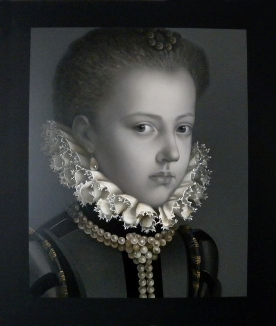 WAT 044 Mary A Waters  Portrait No 9 Infanta with Ruff, 2011  oil on linen cm 95 x 80