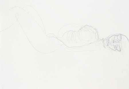 Untitled 011, 2003  pencil and charcoal on paper, 50 x 70 cm