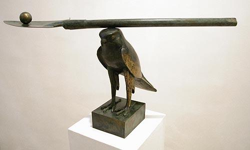 """""""Hélicoptère Egyptien"""" 1998  1/5  bronze  cm 47 x 84 x 55"""