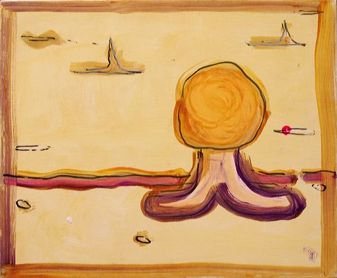 Odalisca, 2004 (ROB 007)  Acrylic on canvas, 50 x 60 cm