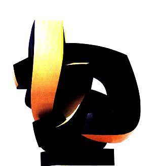 "Sophia VARI  ""Point Immobile"", 1993  Bronze Polychrome  Cm 169 x 142 x 147  Edition of 3"