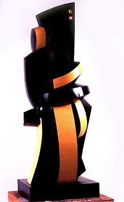 """Sophia VARI  """"L'Homme"""", 2002  Bronze Polychrome  Cm 300 x 110 x 120  Edition de 3"""
