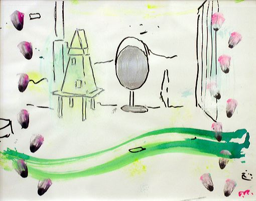 Untitled 2005 (ROB 036)  Ink and watercolor on paper, 29 x 37 cm
