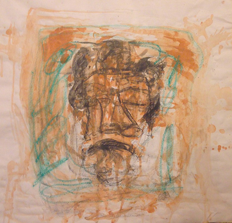 Claudia PiscitelliDavide, 2016cm 59 x 59charcoal,pastels, ink on paper(CPI 019)