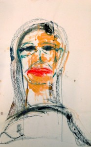 Claudia PiscitelliPaola, 2016cm 73 x60charcoal,pastels, ink on paper(CPI 010)