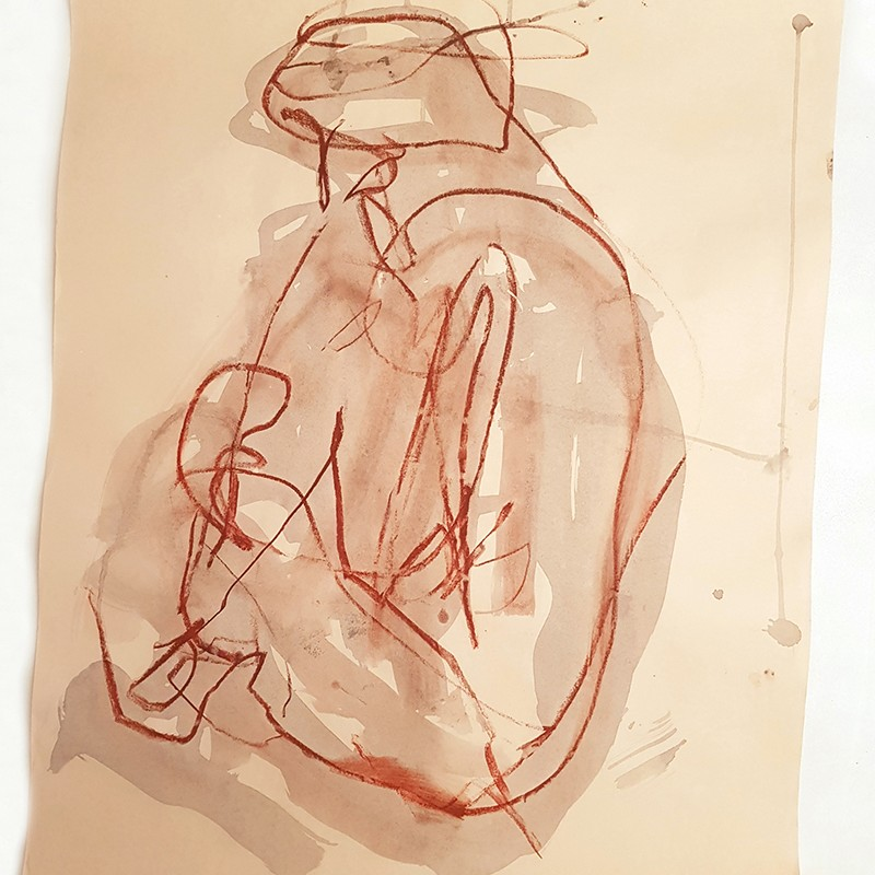 Claudia PiscitelliUntitled, 2015charcoal, pastels and ink on papercm 71 x 53(CPI 009)