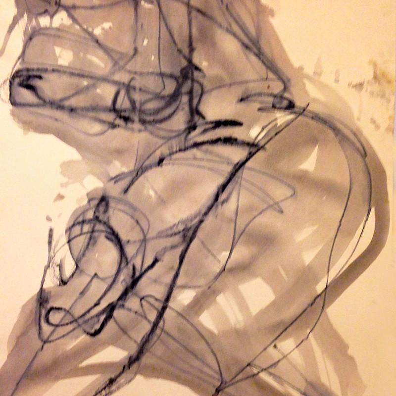 Claudia PiscitelliUntitled, 2015cm 78 x 52charcoal,pastels, ink on paper(CPI 007)