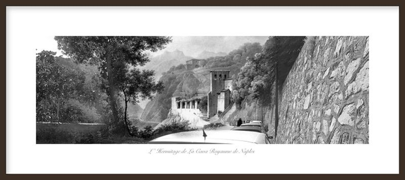 Hiroyuki MasuyamaL' Hermitage de La Cava Royaume de Naples,2012Digital photography with wooden framecm 28 x 59Edition of 7(MAS 025)