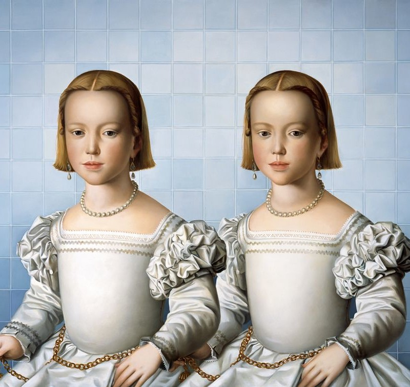 Mary A. Watersbia and twin, 2012Oil on linencm  150 x 200(wat 046)